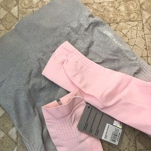 Pink/grey ombré leggings from gymshark